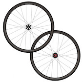 Planet X Pro Carbon 38/38 700c Tubular Disc And Rim Brake Wheelset