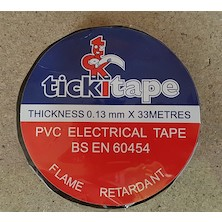 Black Insulation Tape Roll / 19mm
