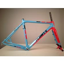 Planet X Pro Carbon XLS Cyclo Cross Frameset / 54cm / Sky / Red