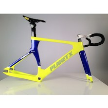 Planet X Koichi San II Aero Carbon Track Frameset / Small / Blue And Yellow / Used - Bundle
