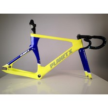 Planet X Koichi San II Aero Carbon Track Frameset / Large / Blue And Yellow / Used - Cosmetic Damage