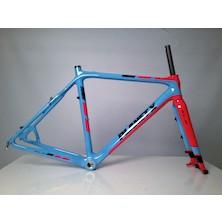 Planet X Pro Carbon XLS Cyclo Cross Frameset / 54cm / Sky / Red (Damaged)