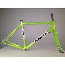 Planet X Pro Carbon Road Frameset / Large / Zesty Lime / Mark On Chainstay