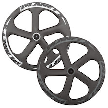 Planet X Five Spoke Carbon Aero Ceramic Bearing Track Front Wheel