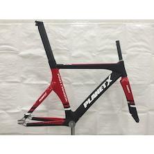 Planet X Pro Carbon Track Frameset / Medium / Gloss Red / Matt Black / Dented Headtube