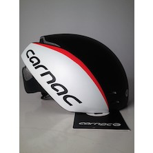 Carnac Aero Road Helmet / 55 - 59cm / Black White And Red / Paint Defect