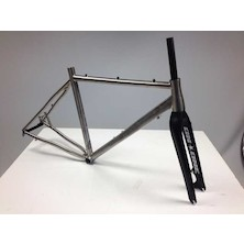 On-One Pickenflick Titanium Cyclocross Frameset / Small / Brushed / Dented Headtube