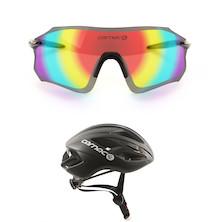 Free Carnac Equipe Red Revo Glasses With Carnac Notus Race Helmets