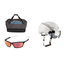 Pro Summer Helmet, Glasses & Bag Bundle