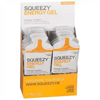 Squeezy Sports Nutrition Energy Gel 33g  Box of 12