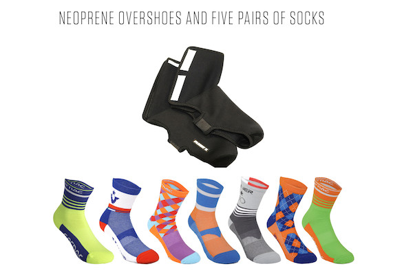 Overshoes And 5 Pairs Of Sorbtek Socks Bundle