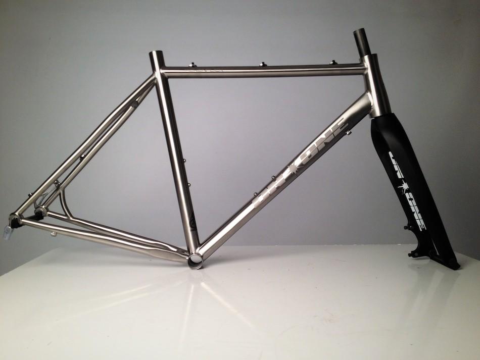 On-One Pickenflick Titanium Cyclocross Frameset / Medium / Brushed ...