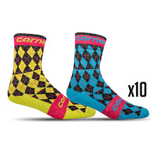 10 Pairs Carnac Argyle Socks Trade Pack - 10 Pairs Of Socks