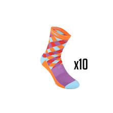 10 Pairs Carnac Diamond Sorbtek Cycling Socks Trade Pack - 10 Pairs Of Socks