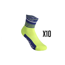 10 Pairs Team Carnac Sorbtek Cycling Socks Trade Pack - 10 Pairs Of Socks