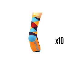 10 Pairs Carnac Merino Cycling Socks Made In UK Trade Pack - 10 Pairs Of Socks