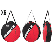 6 Planet X Padded Double Wheel Bags Trade Pack - 6 Wheelbags