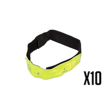 10 Planet X 4 LED Reflective Band  Trade Pack - 10 Reflective Bands