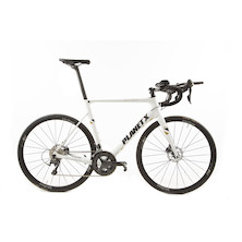 Planet X Aero Disc Sample / Large / Gloss White / Shimano Ultegra 6800 Hydro Disc