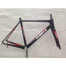 Planet X (Milky) Maratona Carbon Road Frameset / 54cm / Black And Red / Used
