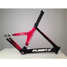 Planet X Pro Carbon Track Frame / Medium / Gloss Red / Matt Black / Damaged