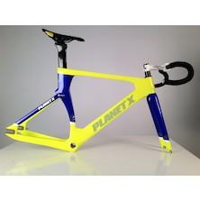 Planet X Koichi San II Aero Carbon Track Frameset / Small / Blue And Yellow / Used - Bundle
