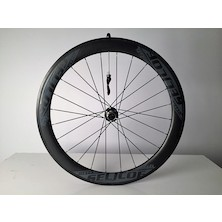 Selcof Delta 56mm Carbon Clincher Front Wheel, Tubeless Tyre Compatible / Used - Cosmetic Damage