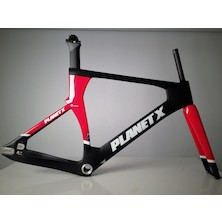 Planet X Koichi San II Aero Carbon Track Frameset / XLarge / Black And Red / Cosmetic Damage
