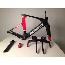 Planet X Exo3 Carbon TT Frameset / Large / Black And Red / Cosmetic Damage