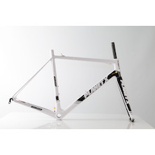 Planet X RT-80 Carbon Road Frameset / Large / White/Black/Grey / Paint Defect
