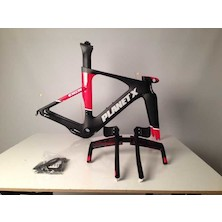 Planet X Exo3 Carbon TT Frameset / Small / Black and Red