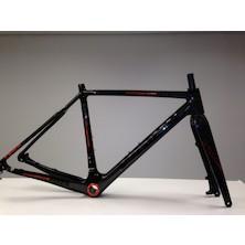 Viner Super Prestige DCX Carbon Cyclocross Frameset / Small (50cm) / Orange / Steerer Cut