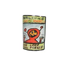 We Like You Please Head tube Badge