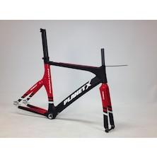Planet X Pro Carbon Track Frameset / Large / Gloss Red / Matt Black / Dented Headtube