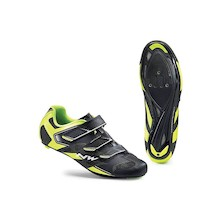 Northwave Sonic 2 Cycling Shoes / Black and Fluo Yellow / 40