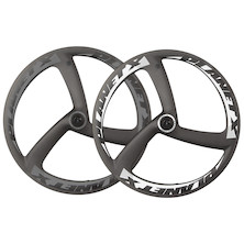 Planet X Aero Tri-Spoke Front Road Wheel With Ceramic Bearings