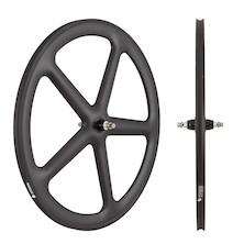 Planet X Five Spoke Carbon Aero Track Front Wheel