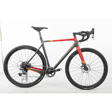 On One Space Chicken SRAM Force 1 Monster Gravel Bike 700C Wheels / Large 57 / Anthracite And Red