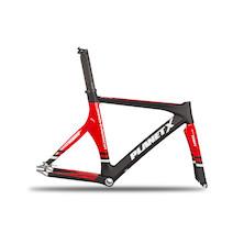 Planet X Pro Carbon Track Frameset / Large / Gloss Red / Matt Black / Dented Heattube