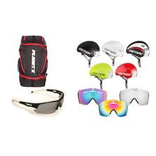 Elite Summer Helmet, Glasses & Bag Bundle