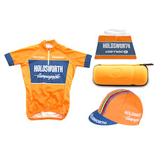 Holdsworth Team Short Sleeve Jersey, Cap, Musette And Bottle Cage Tool Bag Bundle