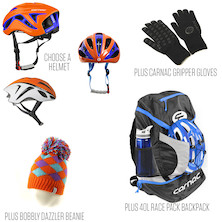Team Holdsworth Carnac Helmet, Backpack And Accessories Bundle