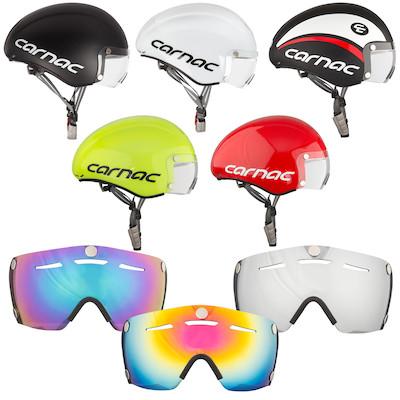 Carnac Kronus Time Trial Helmet And 3 Visor Bundle