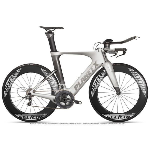Planet X Exo3 SRAM Force 11 Selcof Delta 86 Buongiorno Cuckney 10 Limited Edition Time Trial Bike