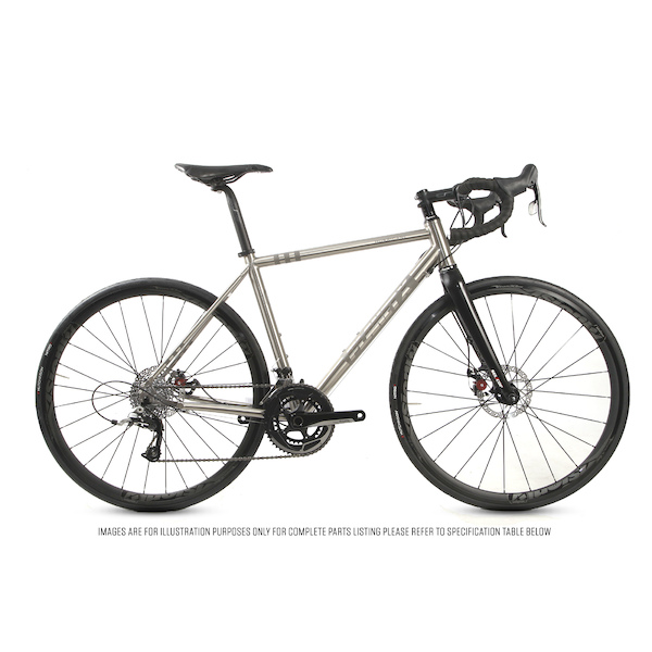 Planet X Hurricane Titanium Sram Rival 22  Mechanical Disc Audax Bike