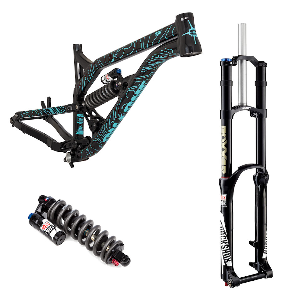 on one s36 275 downhill frame rear shock and fork - Mtb Frames