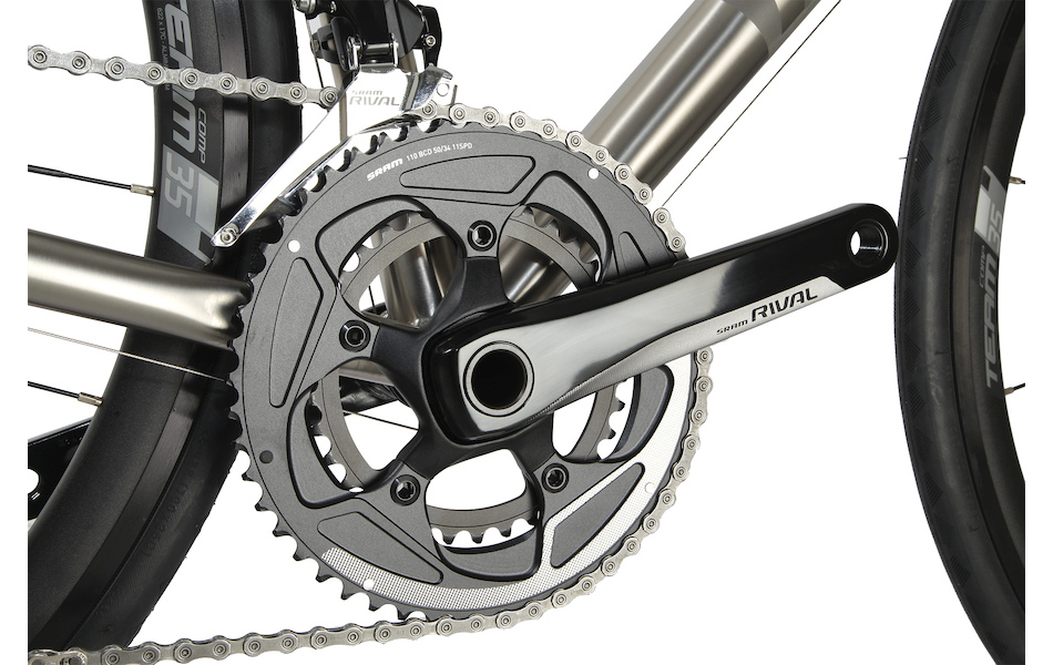 Planet X Spitfire Titanium Sram Rival 22 Road Bike